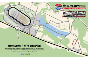 Camping Map - Motorcycle Week at NHMS