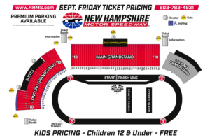 Full Throttle Fall Weekend Seating Chart - Friday