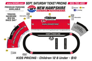 Full Throttle Fall Weekend Seating Chart - Saturday