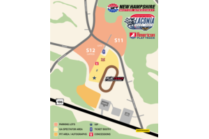 Laconia Short Track Event Map