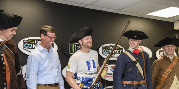 Dale Earnhardt Jr. received a New England themed gift from New Hampshire Motor Speedway on Friday.