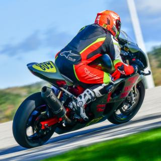 Amateur Loudon Road Race Series rider, Jason Sauvageau, got his first win of the season on his military-themed Suzuki SV650 during round two of the 2019 LRRS season at NHMS. Thumbnail