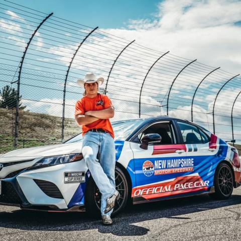 New England Patriots wide receiver Gunner Olszewski will lead the NASCAR Cup Series field to green in the official Toyota Camry TRD pace car on Sunday, July 18 for the Foxwoods Resort Casino 301 at New Hampshire Motor Speedway.