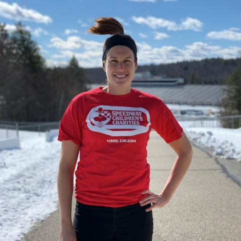 Danielle Cyr, director of the New Hampshire Chapter of Speedway Children's Charities (SCCNH) and marketing manager for New Hampshire Motor Speedway, will be participating in the March 5-7 Goggins Challenge to raise money for SCCNH.