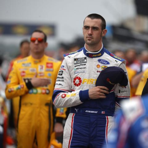 Austin Cindric prior to racing in the inaugural NASCAR Cup Series EchoPark Automotive Texas Grand Prix at Circuit of The Americas in Austin, Texas on May 23, 2021.