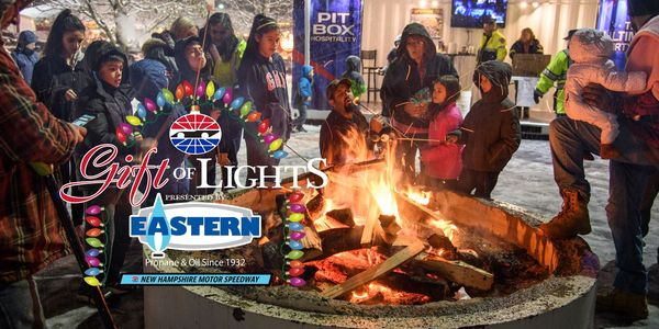 Gift of lights increases donations to local charities for New hampshire motor speedway christmas lights