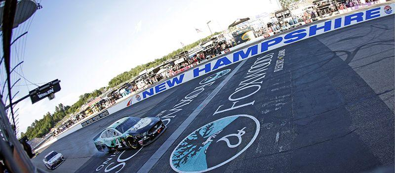 Kevin Harvick beat Denny Hamlin by a mere 0.21 seconds in the NASCAR Cup Series Foxwoods Resort Casino 301 at New Hampshire Motor Speedway on July 21, 2019.