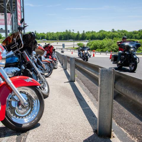 New Hampshire Motor Speedway is a top destination for riders visiting the area during Laconia Motorcycle Week.