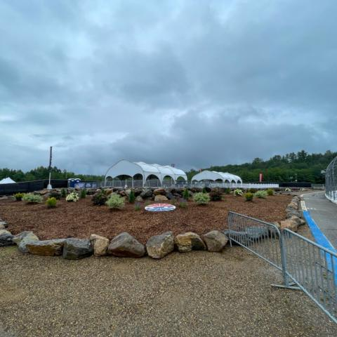 Finishing touches are being put on New Hampshire Motor Speedway's newest trackside amenity, Rock Point, for the Foxwoods Resort Casino 301 race weekend, July 17-18.