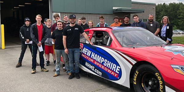 NASCAR Xfinity Series driver Ryan Truex visits with Automotive Technology students at the Seacoast School of Technology in Exeter, N.H.