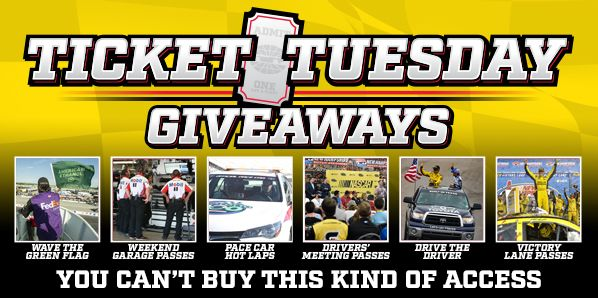 Ticket Tuesday Giveaways