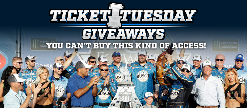 Ticket Tuesday Giveaways 2019