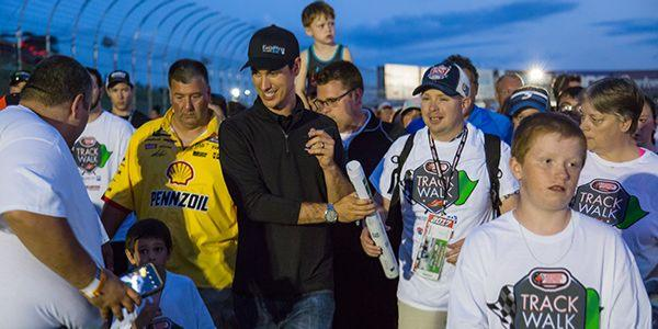 Joey Logano Leads SCCNH's Track Walk in July 2017