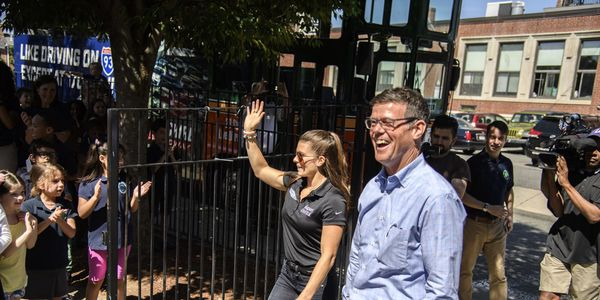 Danica Patrick visited Boston, Mass., on Wednesday, June 14. The Monster Energy NASCAR Cup Series driver visited an elementary school, toured the city on Boston Trolley, rode a swan boat in Boston Common, and had lunch at the iconic Cheers.