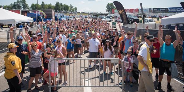 pre-race pit pass fans